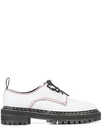 Chaussures à lacet en dentelle blanches Proenza Schouler