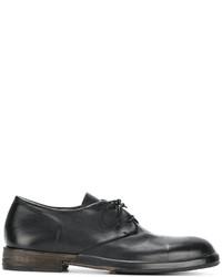 Chaussures à lacet en dentelle marron foncé