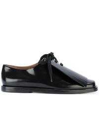 Chaussures à lacet en dentelle noires Marni