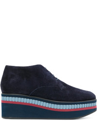 Chaussures à lacet en nubuck bleu marine Robert Clergerie