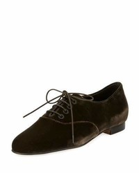 Chaussures à lacet marron foncé