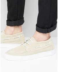 Chaussures bateau beiges Selected