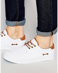 Chaussures bateau blanches Asos