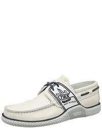 Chaussures bateau blanches TBS