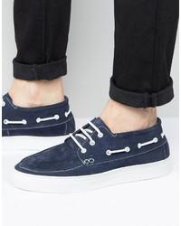 Chaussures bateau bleu marine Selected