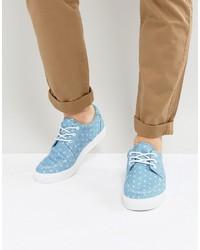 Chaussures bateau bleues claires Asos