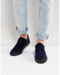 Chaussures bateau bleues Asos