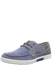 Chaussures bateau bleues Bugatti