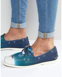 Chaussures bateau bleues Sperry