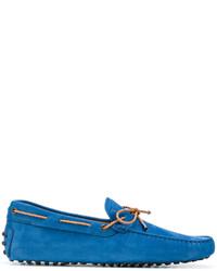 Chaussures bateau en caoutchouc bleues Tod's