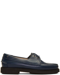Chaussures bateau en cuir bleu marine A.P.C.