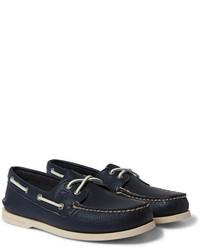 Chaussures bateau en cuir bleu marine Sperry
