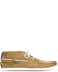 Chaussures bateau en cuir marron clair N.D.C. Made By Hand