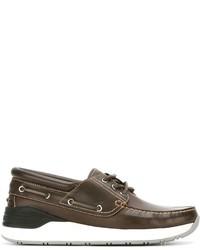 Chaussures bateau en cuir marron foncé Givenchy