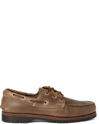 Chaussures bateau en cuir marron foncé Quoddy