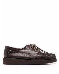 Chaussures bateau en cuir marron foncé Sebago