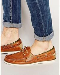 Chaussures bateau en cuir marron Aldo