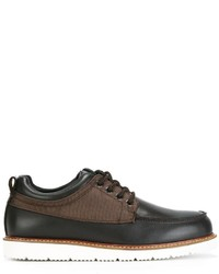 Chaussures bateau en cuir marron Armani Jeans
