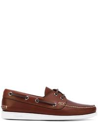 Chaussures bateau en cuir marron Church's
