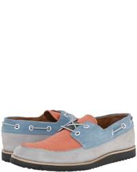 Chaussures bateau en cuir multicolores