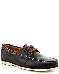 Chaussures bateau en cuir noires