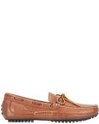 Chaussures bateau en cuir tabac Polo Ralph Lauren