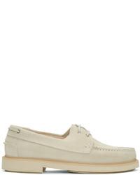 Chaussures bateau en daim beiges A.P.C.