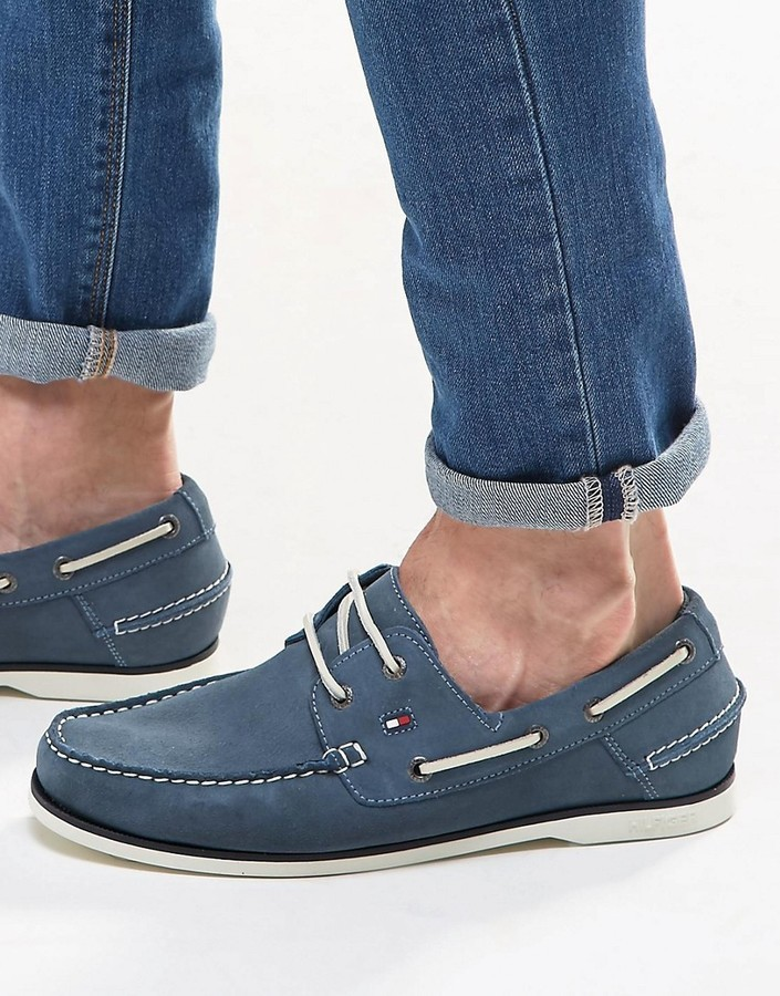 Bateau Chaussures En Hilfiger23Asos Bleues Tommy Daim PkuZOiX
