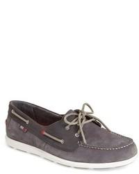 Chaussures bateau en daim gris foncé