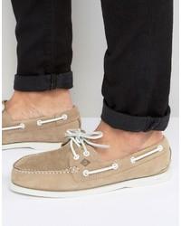 Chaussures bateau en daim marron clair Sperry