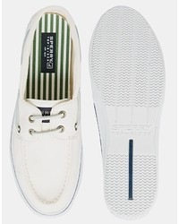 En Bateau Chaussures Lookastic Toile Sperry€97Asos Blanches ARqL534j