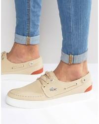 Chaussures bateau marron clair Lacoste