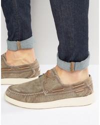 Chaussures bateau marron clair Skechers