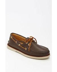 Chaussures bateau marron foncé