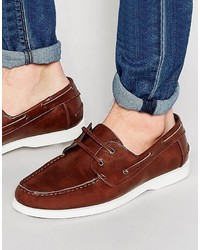 Chaussures bateau marron Asos