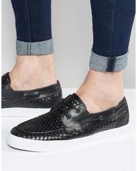 Chaussures bateau noires Asos