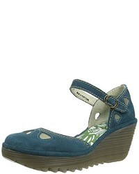 Chaussures bleues canard Fly London