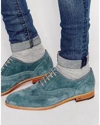 Chaussures brogues bleu canard