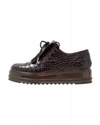 Chaussures brogues brunes foncées Max Mara