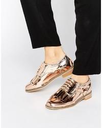 Chaussures brogues dorées Asos