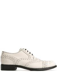 Chaussures brogues en cuir blanches Dolce & Gabbana