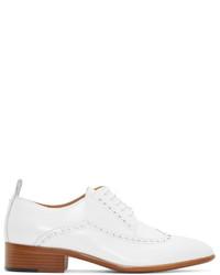 Chaussures brogues en cuir blanches Maison Margiela