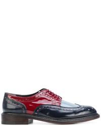 Chaussures brogues en cuir bleu marine Robert Clergerie