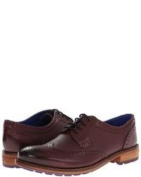 Chaussures brogues en cuir bordeaux