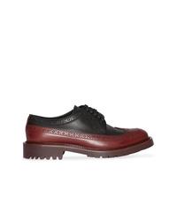 Chaussures brogues en cuir bordeaux Burberry