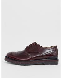 Chaussures brogues en cuir bordeaux PS Paul Smith