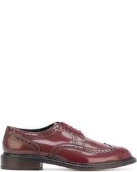 Chaussures brogues en cuir bordeaux Robert Clergerie