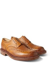 Chaussures brogues en cuir brunes claires