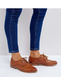 Chaussures brogues en cuir brunes claires Asos