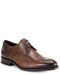Chaussures brogues en cuir brunes foncées